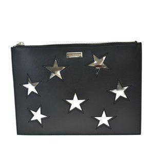 Stella McCartney Star Logo Clutch Hand Bag Leather